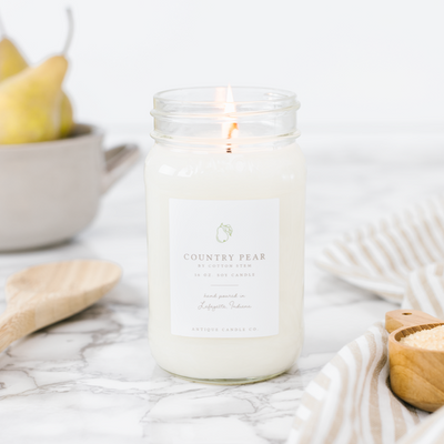 Mason Jar Country Pear Candle 16oz