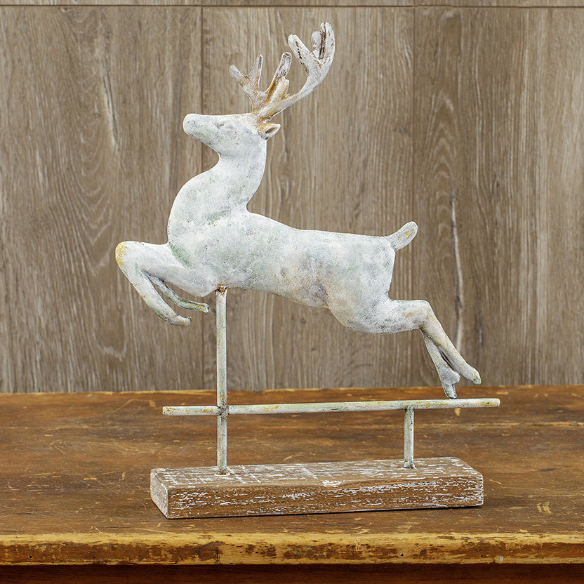 Aged Metal Deer Weathervane-Seasonal-A Cottage in the City