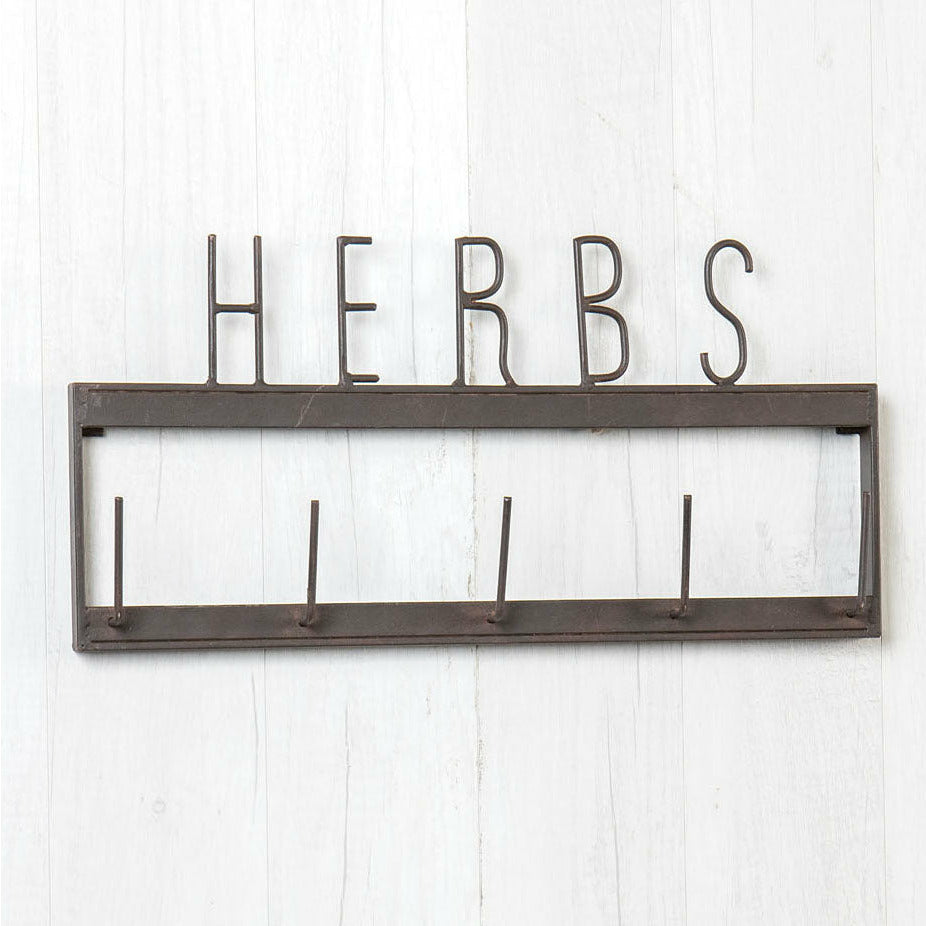 Metal Herbs Wall Rack-Decor-A Cottage in the City