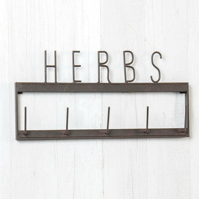 Metal Herbs Wall Rack