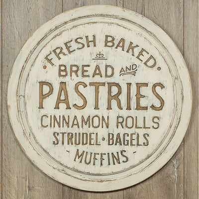 Distressed Wood Pastries Sign