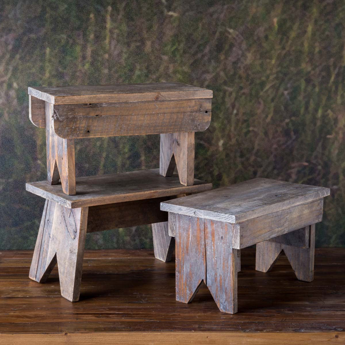 Wood Foot Stool Riser-Decor-A Cottage in the City