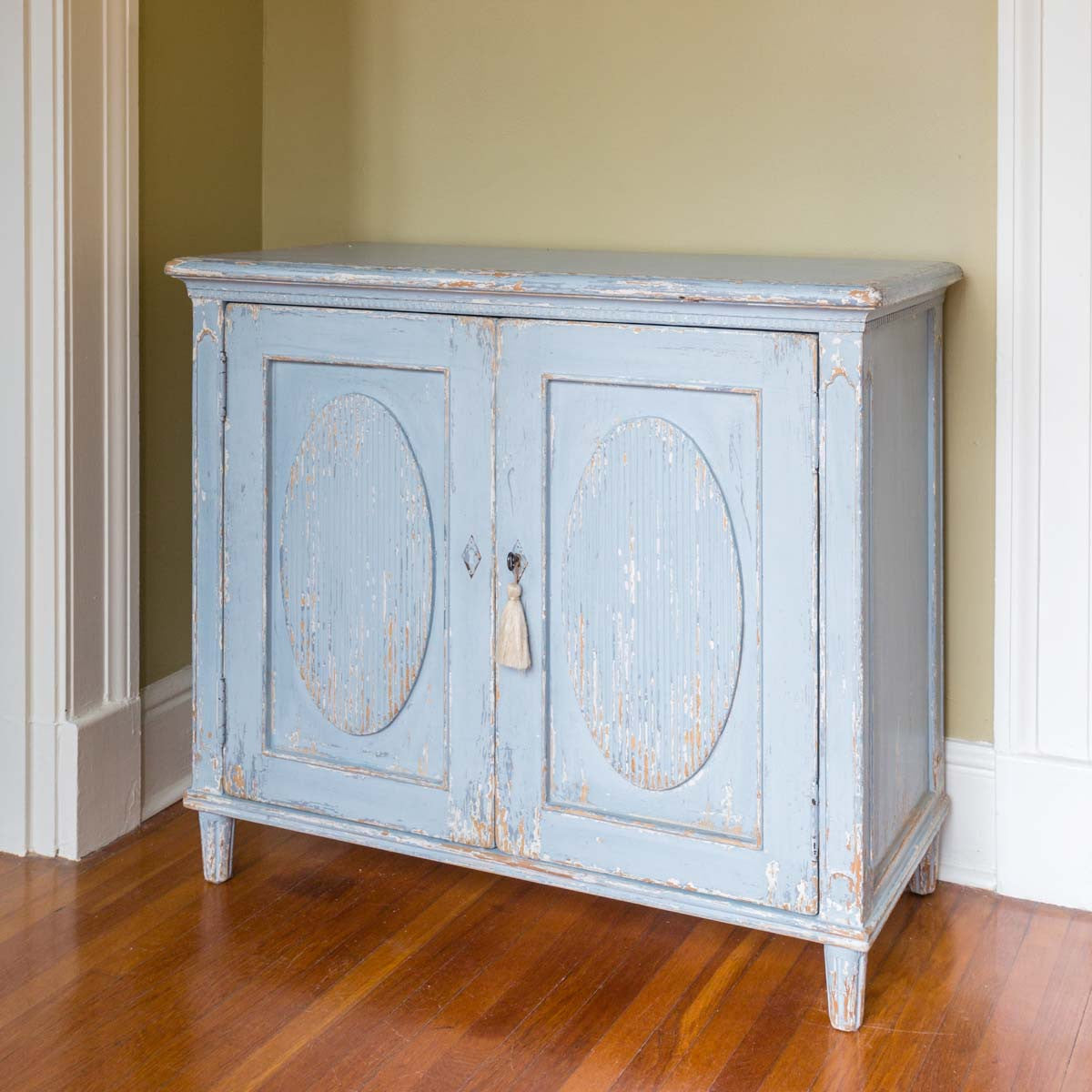 Painted Blue French Cabinet-Furniture-A Cottage in the City