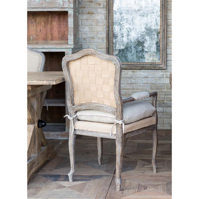 Weathered Oak Arm Chair Set of 2-Furniture-A Cottage in the City