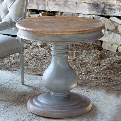 Vintage Wooden Pedestal Table