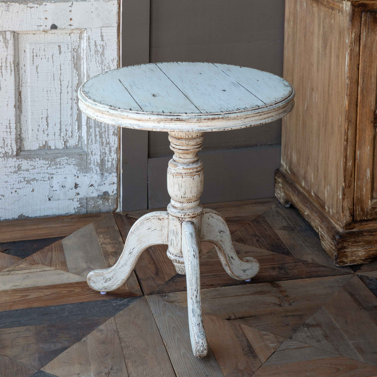 White Cottage Side Table-Furniture-Park Hill Collection-A Cottage in the City