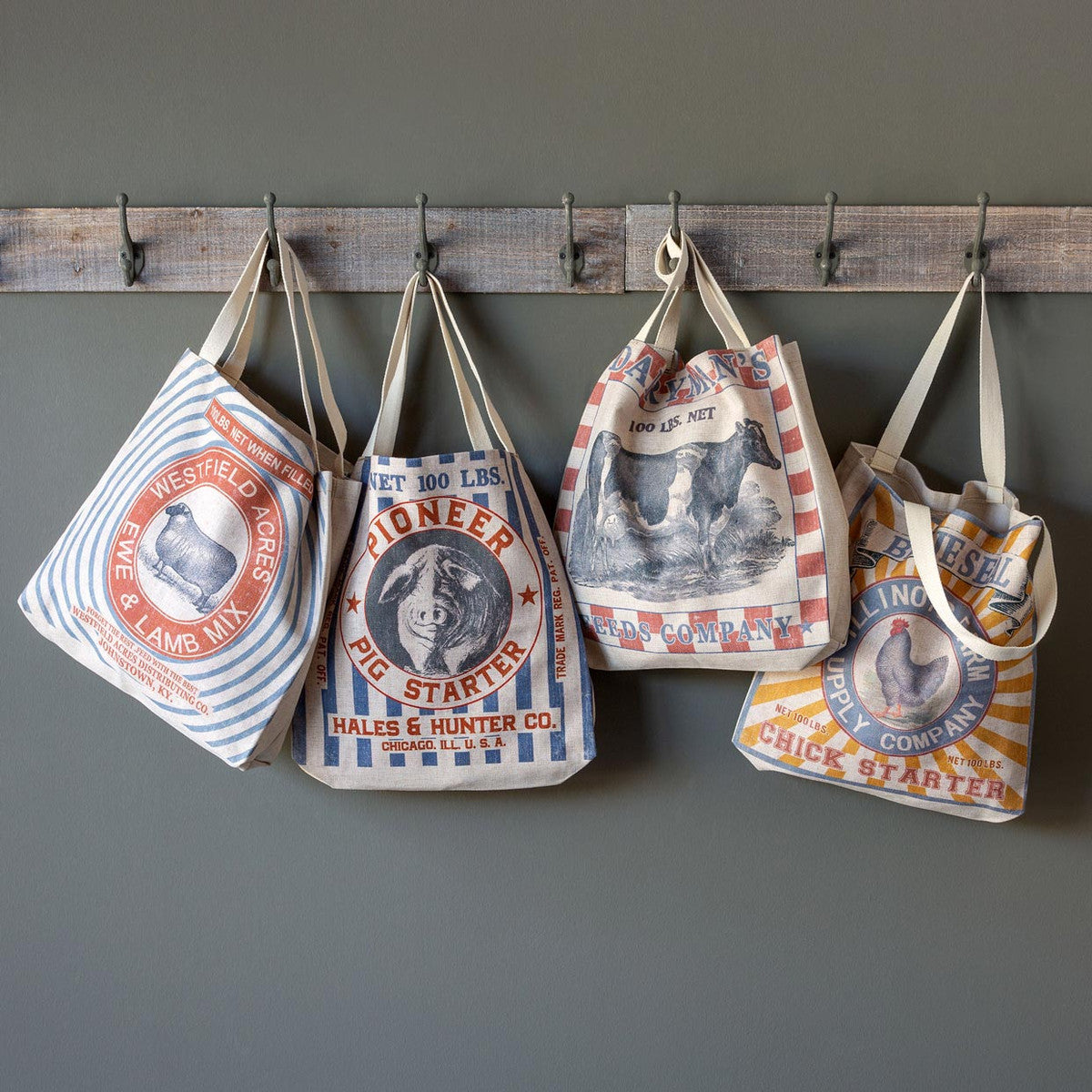 Feed Sack Shopping Tote-Gifts-A Cottage in the City