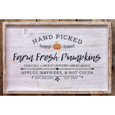 Farm Fresh Pumpkins Wood Sign