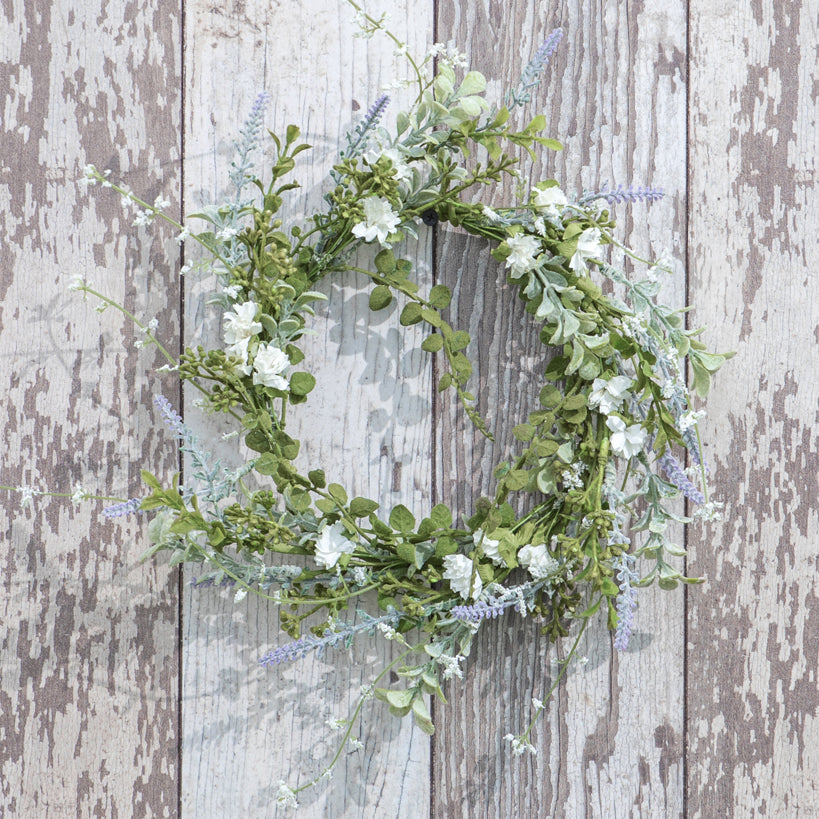 "White Foliage Wreath 10""-Seasonal-A Cottage in the City"