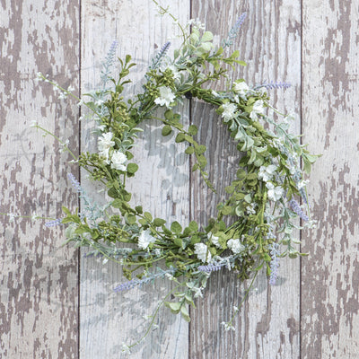 White Foliage Wreath 10