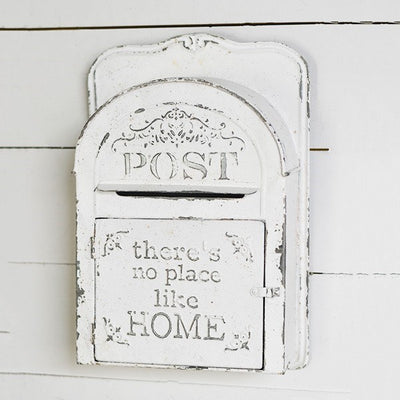 There's No Place Like Home White Mail Box