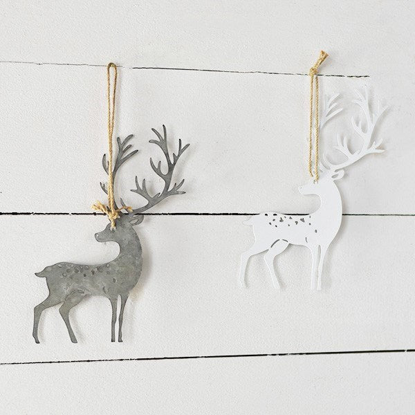 Metal Deer Ornament-Seasonal-A Cottage in the City