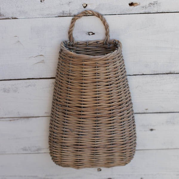 Wide Bottom Willow Wall Basket-Seasonal-A Cottage in the City