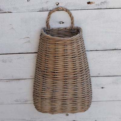 Wide Bottom Willow Wall Basket