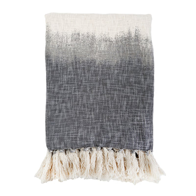 Grey Ombre Hand Woven Throw by Pom Pom at Home