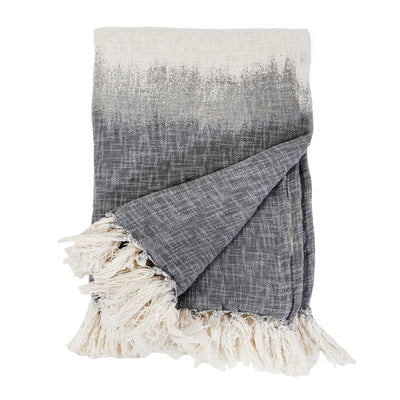 Grey Ombre Hand Woven Throw by Pom Pom at Home-Bed & Bath-A Cottage in the City