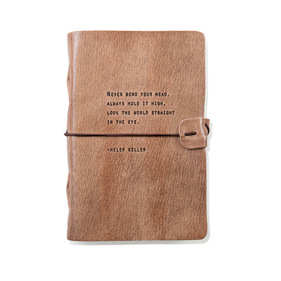 Sugarboo Designs Leather Journal Helen Keller