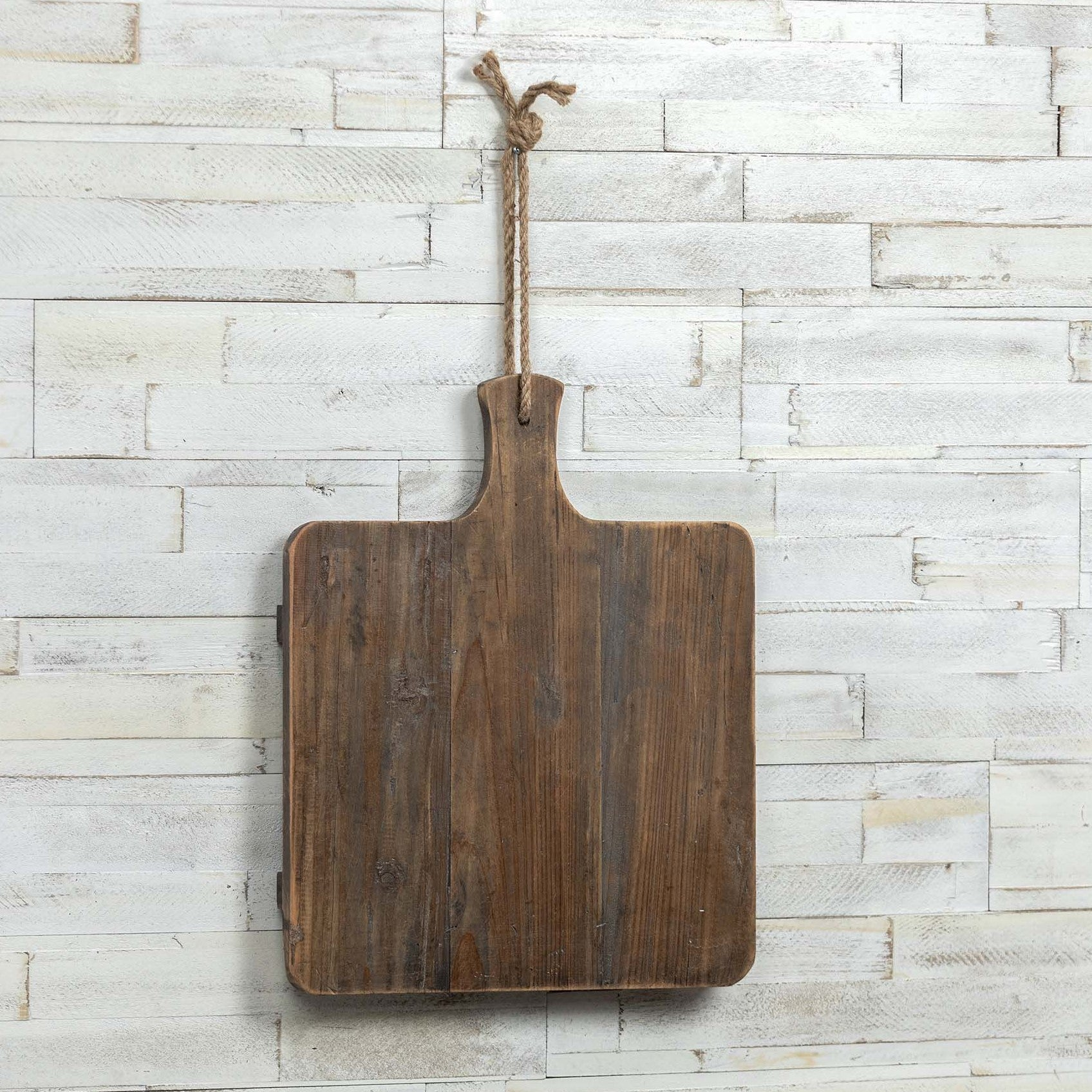 Rustic Wood Square Cheese Board-Tabletop-A Cottage in the City
