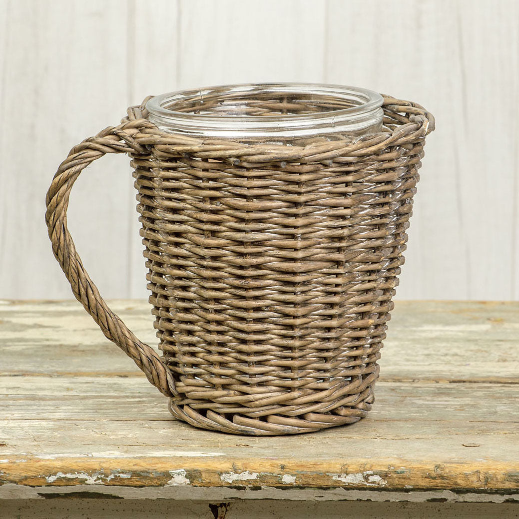 Wicker Mug Planter-Storage-A Cottage in the City
