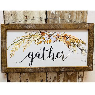Gather Rustic Framed Print