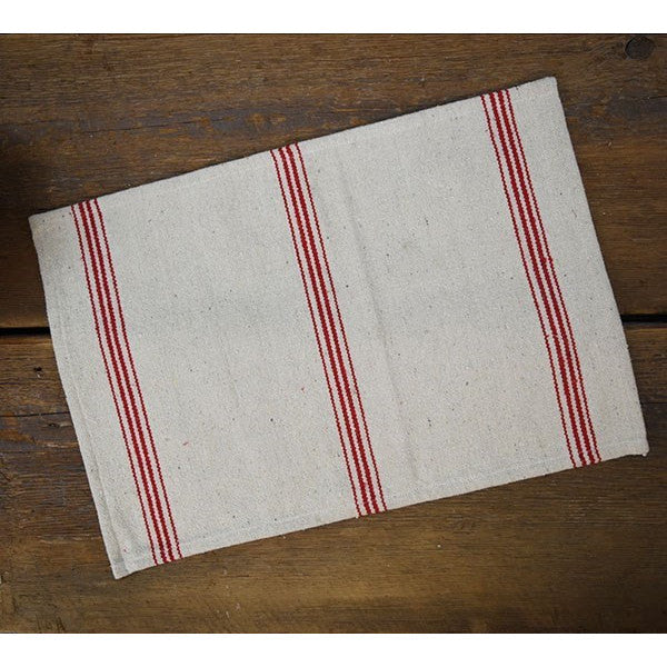 Red Striped Cotton Placemat-Tabletop-A Cottage in the City