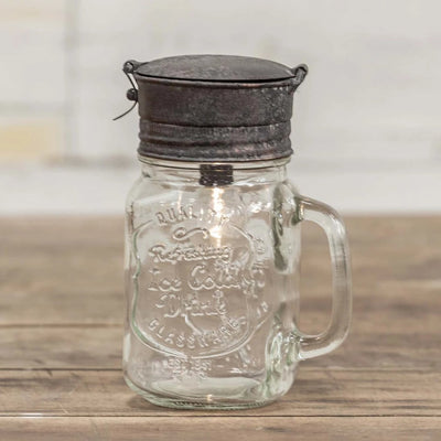 Rusty Mason Jar Lantern Light