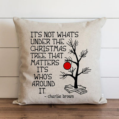 Charlie Brown Christmas Tree Pillow Cover