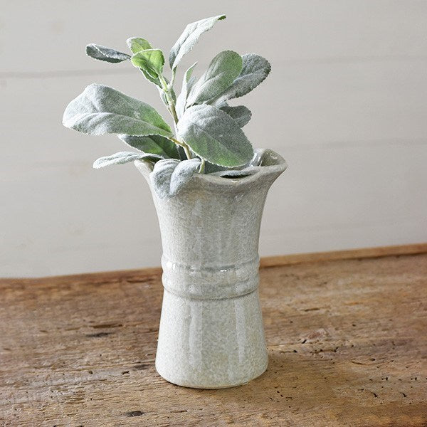 Fluted Grey Vase-Decor-A Cottage in the City
