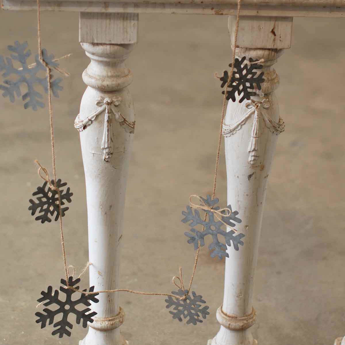 Snowflake Metal Garland-Decor-A Cottage in the City