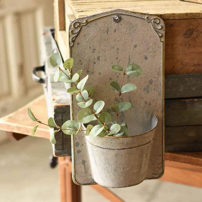 Aged Decorative Metal Wall Bucket