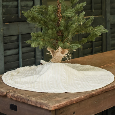 Parchment Knit Tabletop Tree Skirt