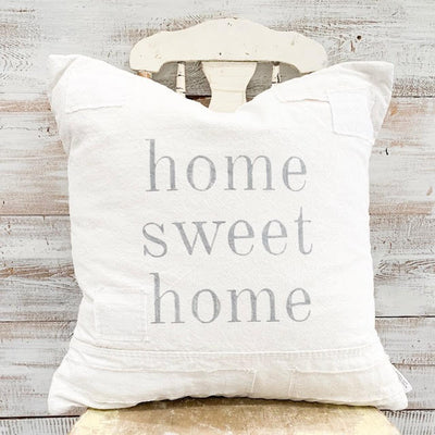 Home Sweet Home Patched Pillow