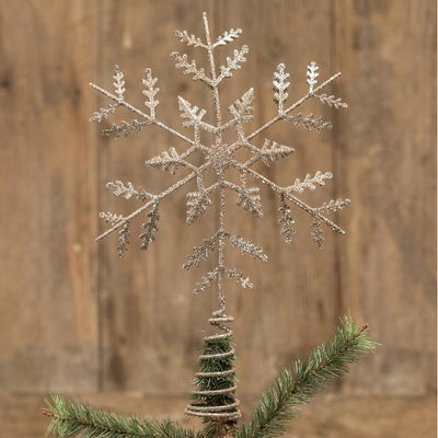 Glittered Snowflake Tree Topper