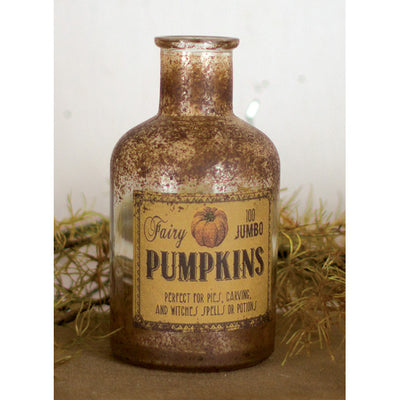 Antiqued Glass Pumpkins Apothecary Jar
