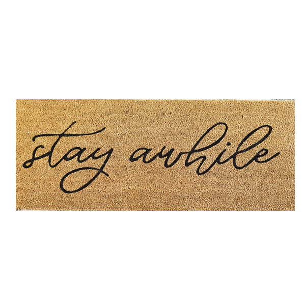 Stay Awhile Script Door Mat-Decor-A Cottage in the City