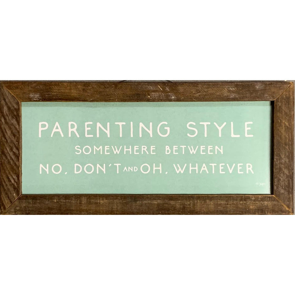 Parenting Style Rustic Framed Print-Decor-A Cottage in the City