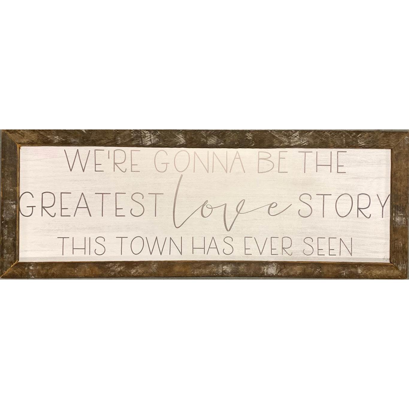 Greatest Love Story Rustic Framed Print-Decor-A Cottage in the City