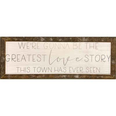 Greatest Love Story Rustic Framed Print