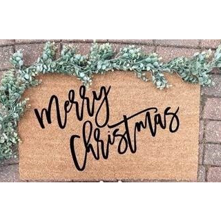 Merry Christmas Scripted Door Mat-Seasonal-A Cottage in the City