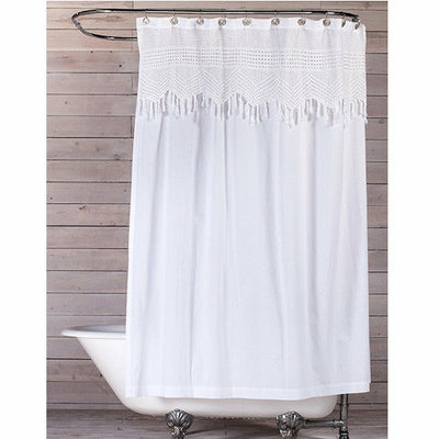 Vintage Crochet Shower Curtain by Pom Pom at Home