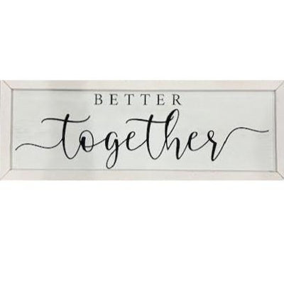 Better Together Rustic Framed Print