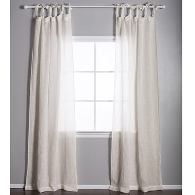 Linen Voile Tie Top Curtain Panel by Pom Pom at Home