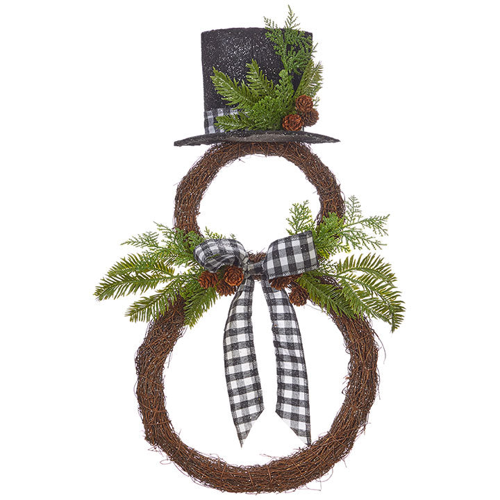 Snowman Wreath-Seasonal-A Cottage in the City