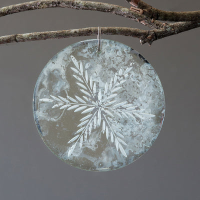 Antiqued Mirror Round Ornament