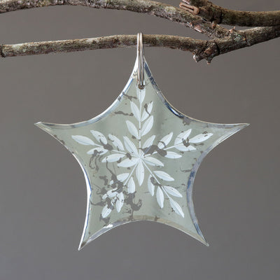 Antiqued Mirror Star Ornament