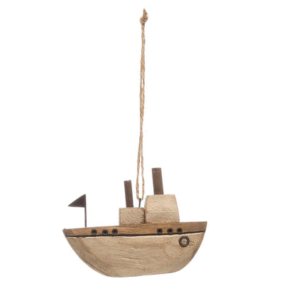 Paulownia Wood Ship Ornament
