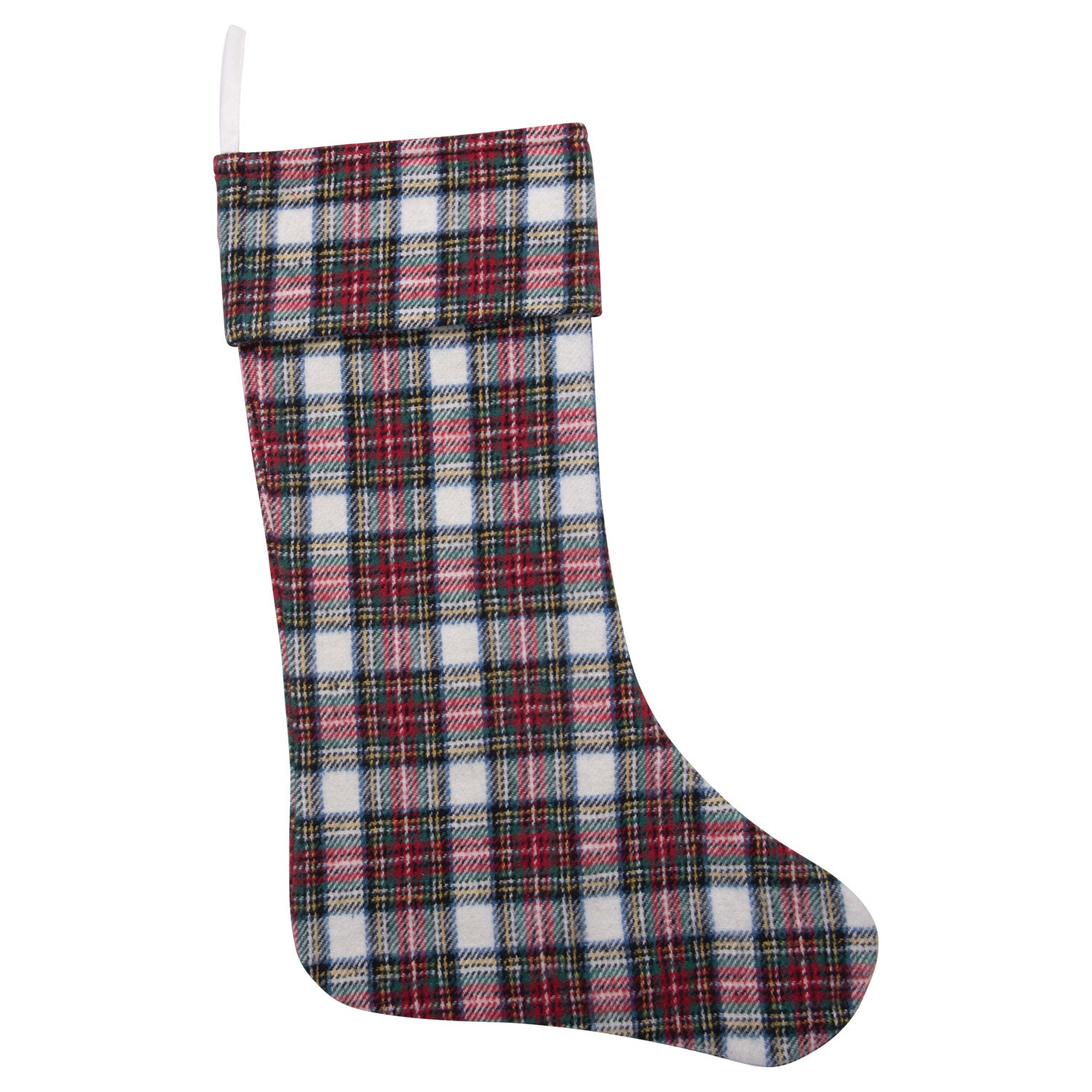 Tartan Brushed Cotton Plaid Stocking-Decor-A Cottage in the City