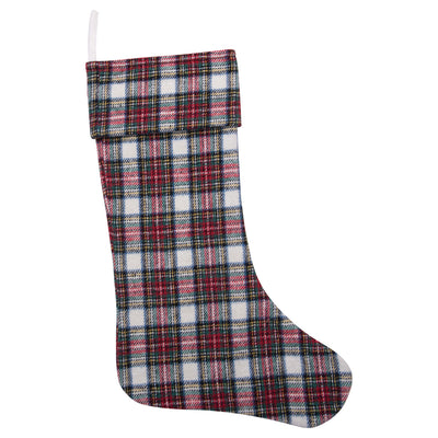 Tartan Brushed Cotton Plaid Stocking