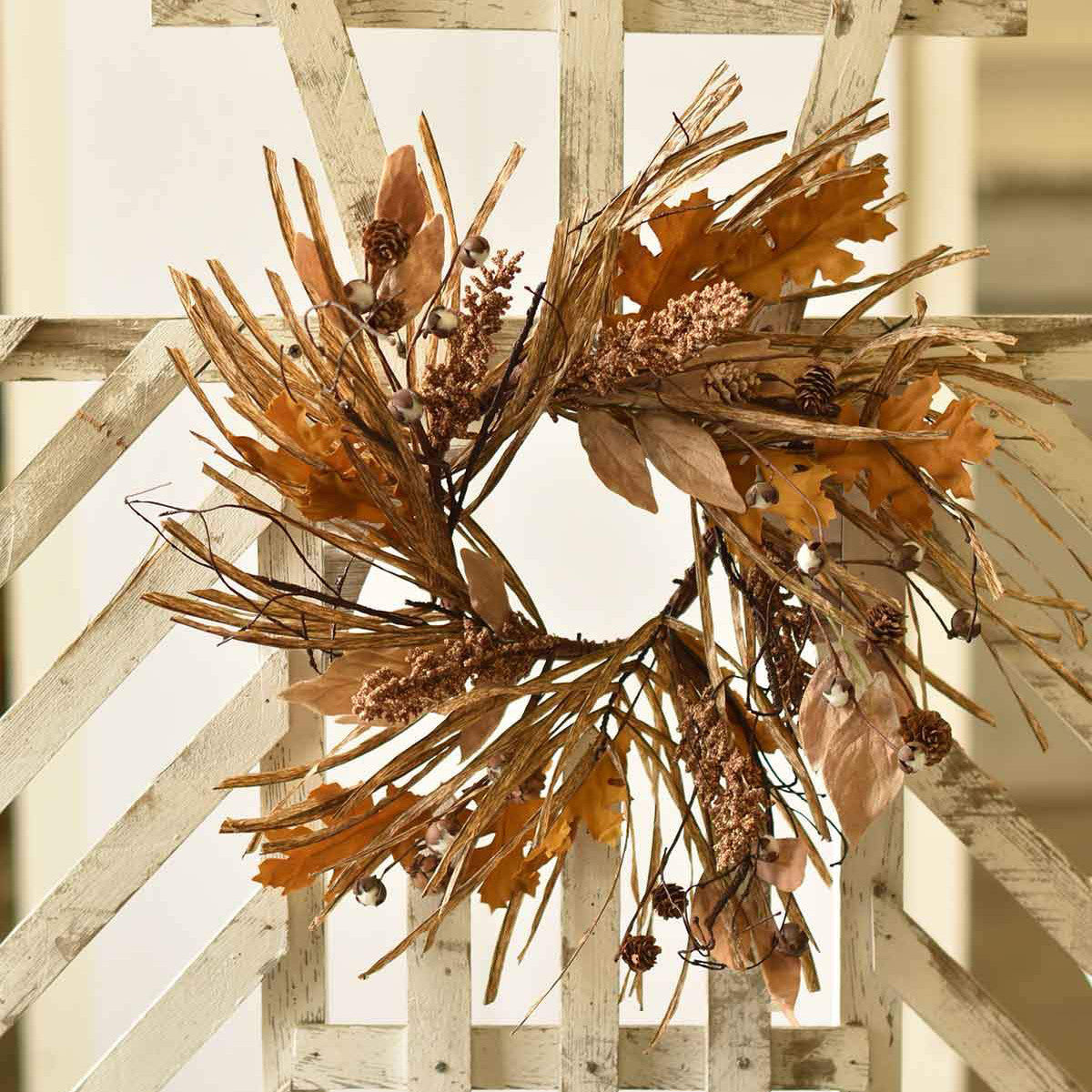 Fall Leaves Wreath-Seasonal-A Cottage in the City