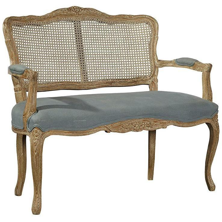 Adeline Cane Back Settee-Furniture-A Cottage in the City